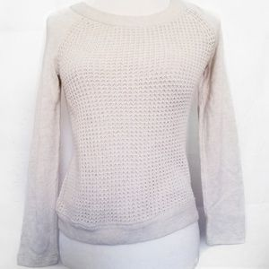 J.CREW XXS fit S oatmeal cable waffle thermal new